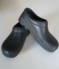 Sz 8 Black NON-SLIP Clogs Shoes Resistant Non Marking Kitchen Hospital Bathroom