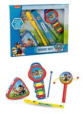 Paw Patrol Giant Music Set Tambourine Flute Recorder Kids Musical Instrument Toy