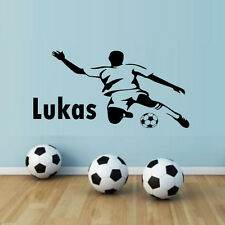 Football Player Boys Bedroom Wall Sticker Custom Any Name Decal Home Decor