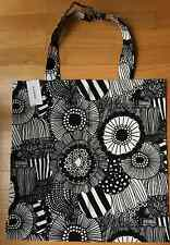 Marimekko Siirtolapuutarha shopping magazine tote bag purse, black white Finland
