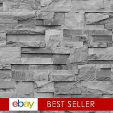 Photographic Slate Effect Wallpaper Charcoal / Grey ILW004