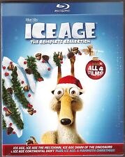 ICE AGE 1, 2, 3 & 4 + A Mammoth Christmas - Blu-ray - BRAND NEW