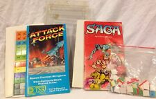 Vintage Lot of 2 TSR Mini Games: Saga Age Of Heroes & Attack Force 1980s