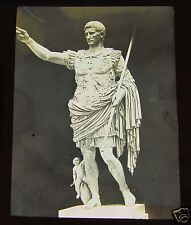 Glass Magic lantern slide STATUE OF AUGUSTUS CAESAR 1890 ITALY ROMAN