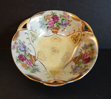 "Trimont Ware Iridescent Luster Floral 7 1/2"" (19 CM) Bowl Japan Very Nice!!"