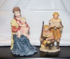 2 VTG Figurines Mother and Child and Shepherds with Sheep