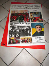 SCI-FI soggettone 1999 CONQUISTA DELLA TERRA Conquest of the Planet of the Apes