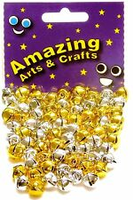72 JINGLE BELLS Oro e Argento 10mm dall' incredibile Arts and Crafts