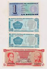 Four Banco Central De Venezuela Banknotes--Great Condition !