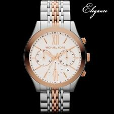 MICHAEL KORS LADIE'S LUXURY ROSE GOLD 2 TONES WATCH MK5763