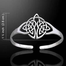 Elegant Celtic Knotwork Silver Bangle Bracelet - Celebrate your Heritage !