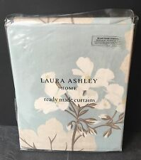 "Laura Ashley Curtains Millwood Duck Egg Blue 64"" X 54 / 162cm x 137 Floral"