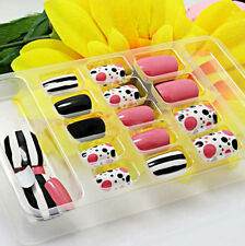 Pre Designed 24PCS Fake Artificial Nails Tips Fashion Nail Art French False Nail