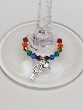 20 Gay Pride wine Glass Charms.Wedding/Civil/Favour/Rainbow/Party