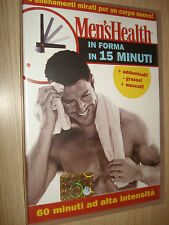 DVD MEN´S HEALTH IN FORMA IN 15 MINUTI 60 MINUTI AD ALTA INTENSITA´4 ALLENAMENTI