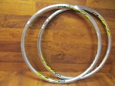 "MAVIC CROSS LAND 24 HOLE 26"" SUP UST EYELETED CLINCHER MACHINED RIM SET (2)"