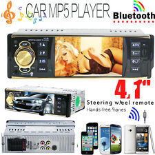 """4.1"""" HD 1 DIN In-Dash Bluetooth Car Stereo Android USB FM Radio MP3 MP4 MP5 Play"""