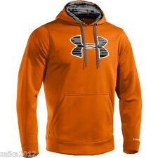 Under Armour Storm Big Logo Hoodie Mens Sz M Cold Gear Orange Camo NWT $65