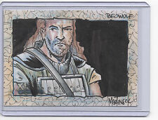 "Xena Art And Images Sketch Card by Warren Martineck ""Beowolf"" Colour Color"