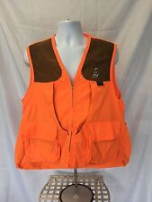 Boyt Harness Company Vented Hunting Vest Orange/Brown Suede Shooting Pads Large