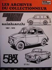 revue technique FIAT 500 1957-1972 D + L + F + JARDINIERE