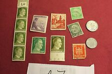 "WW2 German Third Reich ""Hitler Stamps"" & Nazi Eagle Coins..(lot A7)"