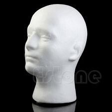 Popular Male Styrofoam Mannequin Foam Head Model Wig Glasses Hat Display Stand