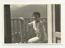 91609 FOTOGRAFIA FOTO ORIGINALE DAI BAGNI VECCHI DI  BORMIO 1960
