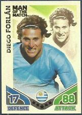 TOPPS MATCH ATTAX WORLD CUP 2010-MOTM-URUGUAY-DIEGO FORLAN-SILVER FOIL