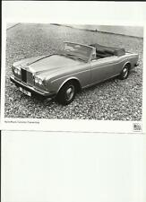 "ROLLS ROYCE CORNICHE CONVERTIBLE ORIGINAL PRESS PHOTO  "" Brochure related"""