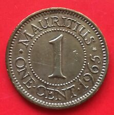 Maruitius one cent 1965