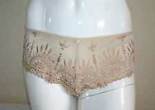 Chantelle Africa Womens Gold Lurex Brazilian Knickers Panties Size XL New