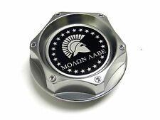 MOLON LABE SPARTAN GUNMETAL BILLET CNC ENGINE OIL FILLER CAP FOR HONDA ACURA