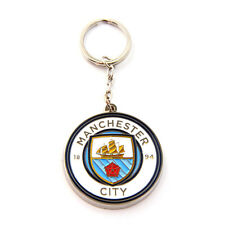 MANCHESTER CITY FC CLUB CREST METAL KEYRING KEY RING KEYCHAIN NEW GIFT XMAS