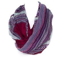 Unisex Burgundy Lilac Snood Multifunctional Neck Warmer Ski Scarf Bandana