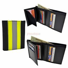 Firefighter Bunker Turnout Gear Wallet Leather Bifold Fire Department Material