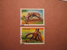 Tanzania Stamp Scott# 1425-26 Animals 1995 P10