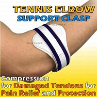 TENNIS Golfers ELBOW Pain EPICONDYLITIS Support Compression Therapy Brace Clasp