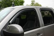 In-Channel Vent Visors for a 2015-2016 Chevy Silverado 2500/3500 Double Cab