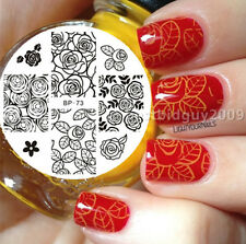 Charm Rose Flower BORN PRETTY #73 Nail Art Stamp Stamping Template Image Plate
