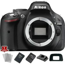 Nikon D5200 24.1 MP DSLR Camera Body Only + Screen Protector - NEW