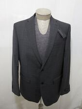 $240 Marc Anthony 44 R Mens 100% Wool 2 Button Grey Slim Sport Coat Suit Jacket