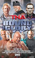 Official TNA Impact Wrestling 38 x 24 inch Bound For Glory 2010 PPV Poster