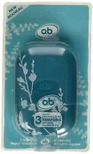 o.b. Pro Comfort Reusable Carry Case with 3 Regular Tampons, 1 ea Asst Colors