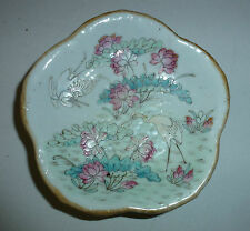 Chinese Antique Porcelain Bowl Tray Tongzhi Mark White Cranes in Lotus Pond