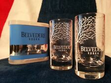 BELVEDERE Vodka Shot Glasses x2 + Holder Rare Collectable Celebration