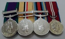 GSM NI, Iraq Op Telic, Afghanistan, Jubilee, Medals Mounted, Full Size, Clasp