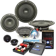 "CDT AUDIO CL-642SL 6.5"" / 4"" SHALLOW 3-WAY COMPONENT SPEAKER SET THIN DEPTH MIDS"