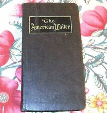 """1914 RARE BOOK by BLACK AUTHOR """"THE AMERICAN WAITER""""~ILLUS. COMPREHENSIVE MANUAL"""