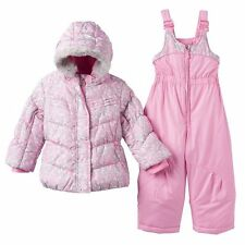 4 Toddler Girls ZeroXposur Puffer Winter Jacket Coat Bib Snow Pant Set Snowsuit